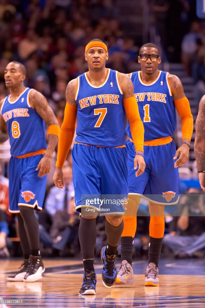 New York Knicks Carmelo Anthony (7) during game vs Orlando Magic at Amway Center. Greg Nelson F70 )