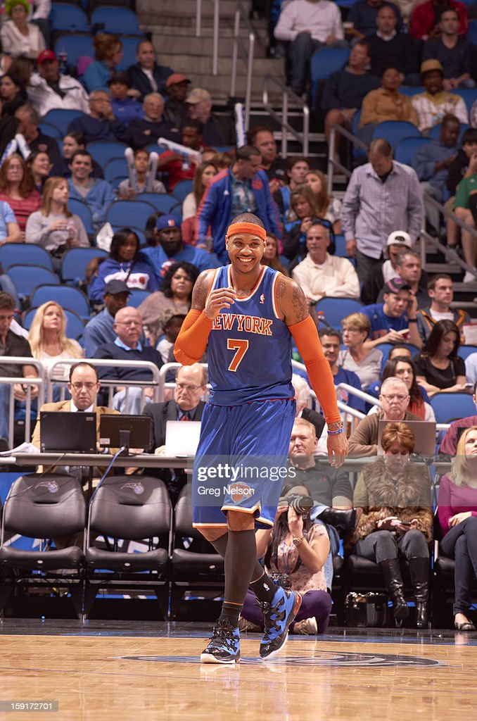 New York Knicks Carmelo Anthony (7) during game vs Orlando Magic at Amway Center. Greg Nelson F61 )