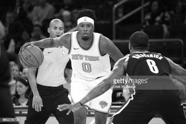 New York Knicks Jamel Artis in action vs Brooklyn Nets during preseason game at Madison Sqaure Garden New York NY CREDIT Erick W Rasco