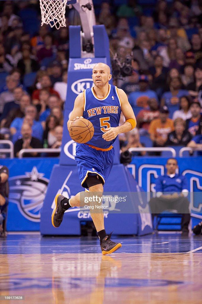 New York Knicks Jason Kidd (5) in action vs Orlando Magic at Amway Center. Greg Nelson F113 )