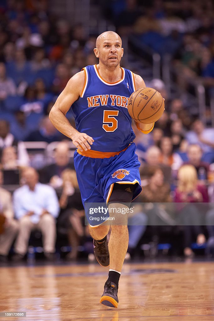 New York Knicks Jason Kidd (5) in action vs Orlando Magic at Amway Center. Greg Nelson F35 )