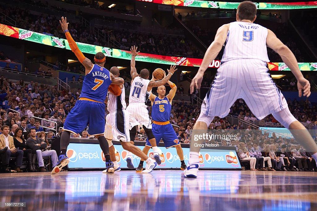 New York Knicks Jason Kidd (5) in action vs Orlando Magic at Amway Center. Greg Nelson F110 )