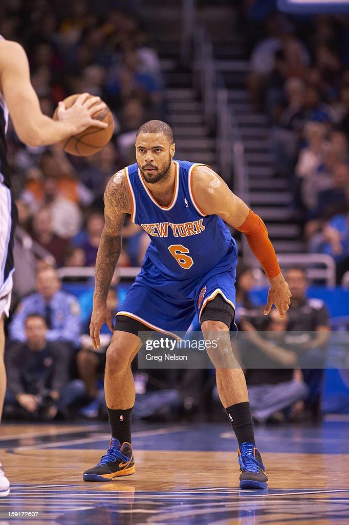 New York Knicks Tyson Chandler (6) in action vs Orlando Magic at Amway Center. Greg Nelson F64 )