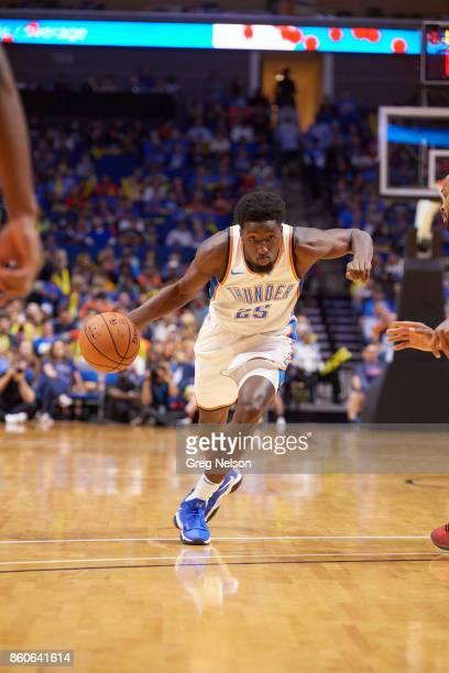 Oklahoma City Thunder Daniel Hamilton in action vs Houston Rockets during preseason game at BOK Center Tulsa OK CREDIT Greg Nelson