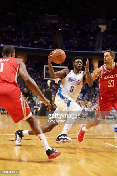 Oklahoma City Thunder Jerami Grant in action vs Houston Rockets during preseason game at BOK Center Tulsa OK CREDIT Greg Nelson