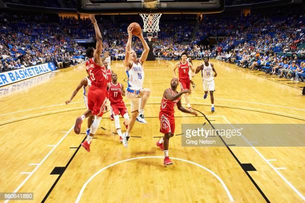Oklahoma City Thunder Kyle Singler in action vs Houston Rockets during preseason game at BOK Center Tulsa OK CREDIT Greg Nelson