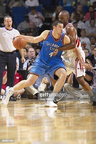 Oklahoma City Thunder Nick Collison in action vs Houston Rockets during preseason Tulsa OK CREDIT Greg Nelson