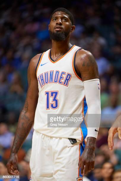 Oklahoma City Thunder Paul George during preseason game vs Houston Rockets at BOK Center Tulsa OK CREDIT Greg Nelson