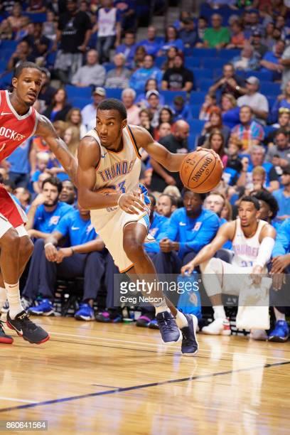 Oklahoma City Thunder Terrance Ferguson in action vs Houston Rockets during preseason game at BOK Center Tulsa OK CREDIT Greg Nelson
