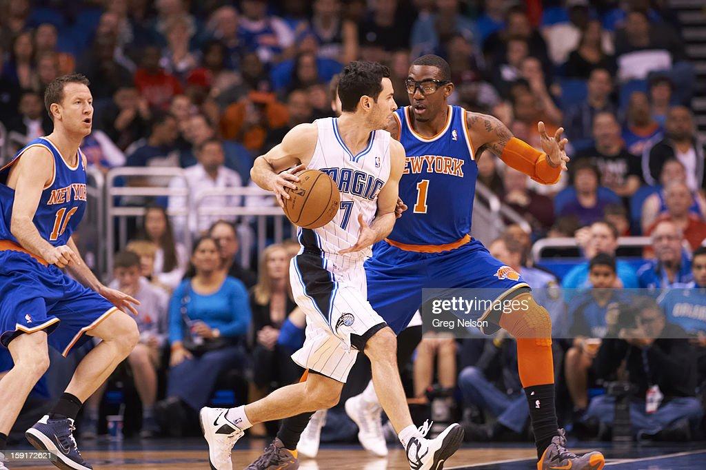 Orlando Magic J.J. Redick (7) in action vs New York Knicks at Amway Center. Greg Nelson F88 )