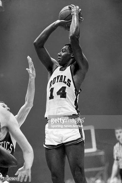 NBA Basketball Oscar Robertson was selected by the Cincinnati Royals in 1960 NBA draft This is an action photo from a 1966 game against the Celtics...