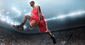 basketball payer shooting