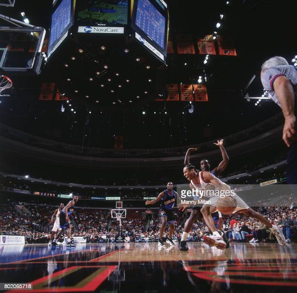 Philadelphia 76ers Allen Iverson in action vs Cleveland Cavaliers at Wells Fargo Center Philadelphia PA CREDIT Manny Millan