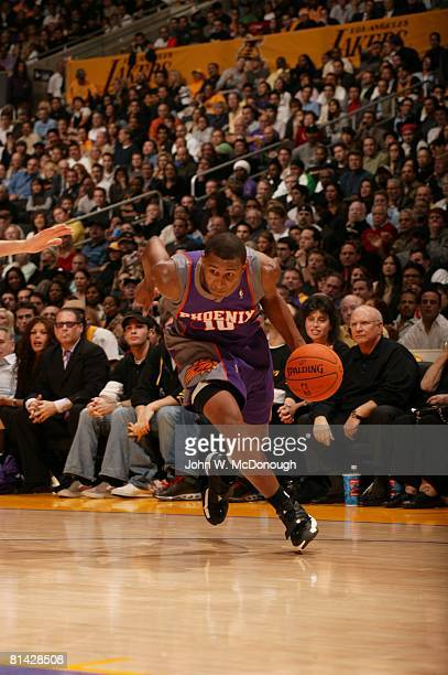 Basketball Phoenix Suns Leandro Barbosa in action vs Los Angeles Lakers Los Angeles CA