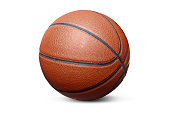 Basketball isolated over a white background.