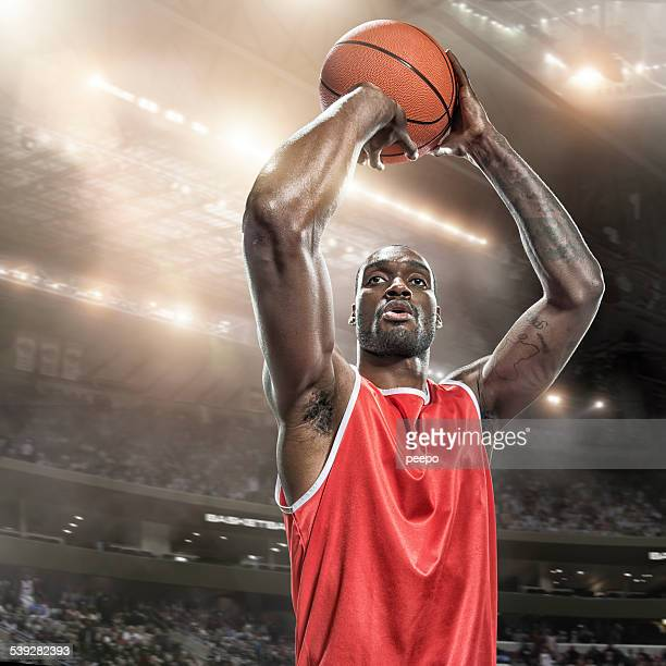 Basketball Player About to Shoot
