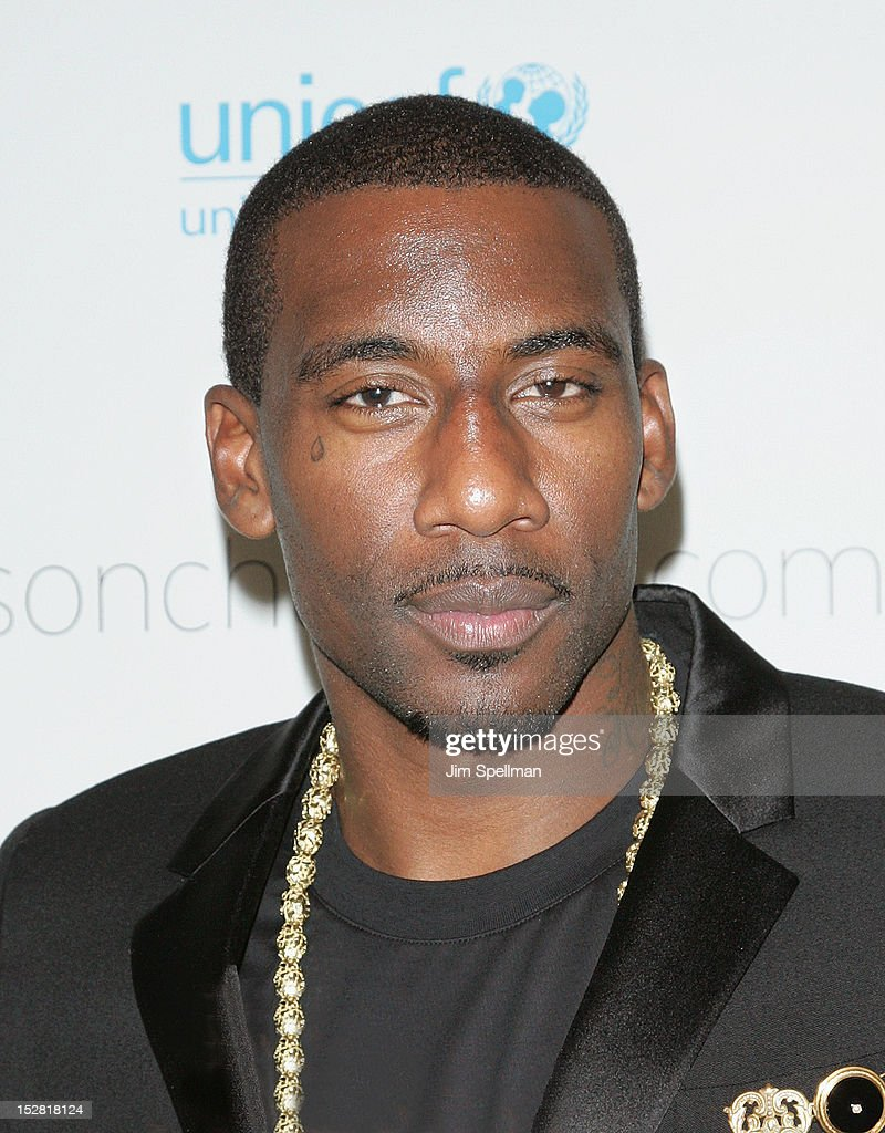 NBA basketball player Amare Stoudemire attends 'A Year In A New York Minute' Photo Exhibition at Canoe Studios on September 26, 2012 in New York City.