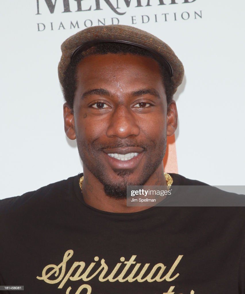 Basketball Player Amar'e Stoudemire attends 'The Little Mermaid' screening at Walter Reade Theater on September 21, 2013 in New York City.