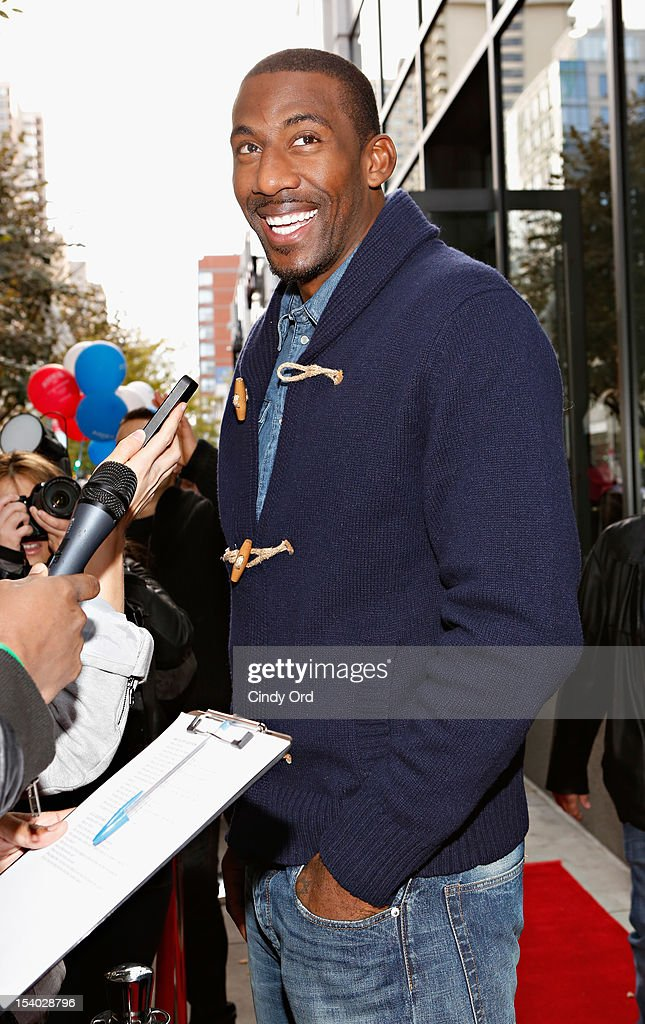 NBA basketball player Amare Stoudemire attends the Rookie USA Flagship Store Opening at Rookie USA on October 12, 2012 in New York City.