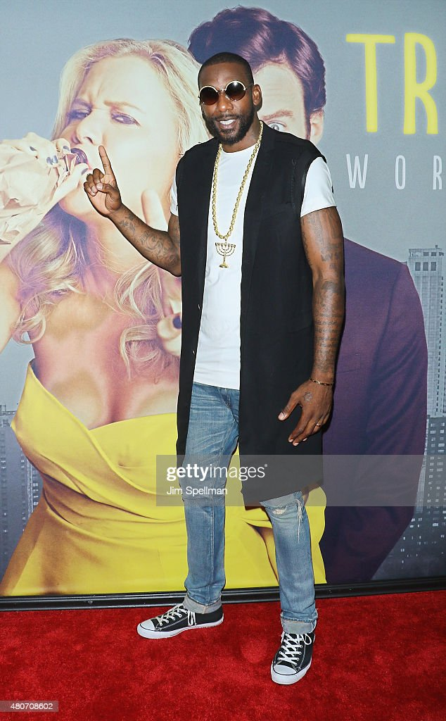 Basketball player Amar'e Stoudemire attends the 'Trainwreck' New York premiere at Alice Tully Hall on July 14, 2015 in New York City.