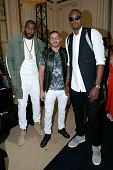 Basketball player Amar'e Stoudemire Football Player Karim Benzema and Basketball Player Serge Ibaka attend the Balmain Menswear Spring/Summer 2016...