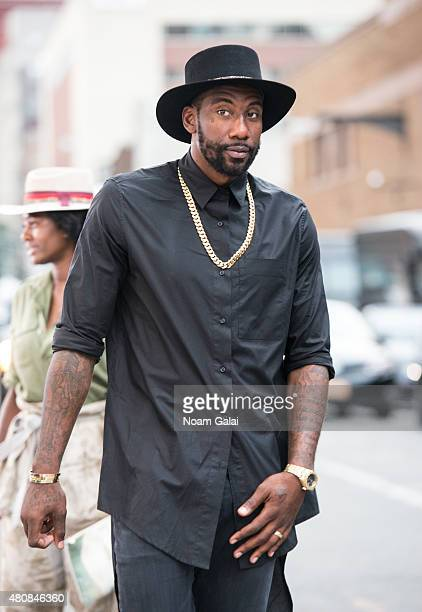 Basketball player Amar'e Stoudemire is seen during New York Fashion Week Men's S/S 2016 outside Skylight Clarkson Sq on July 15 2015 in New York City