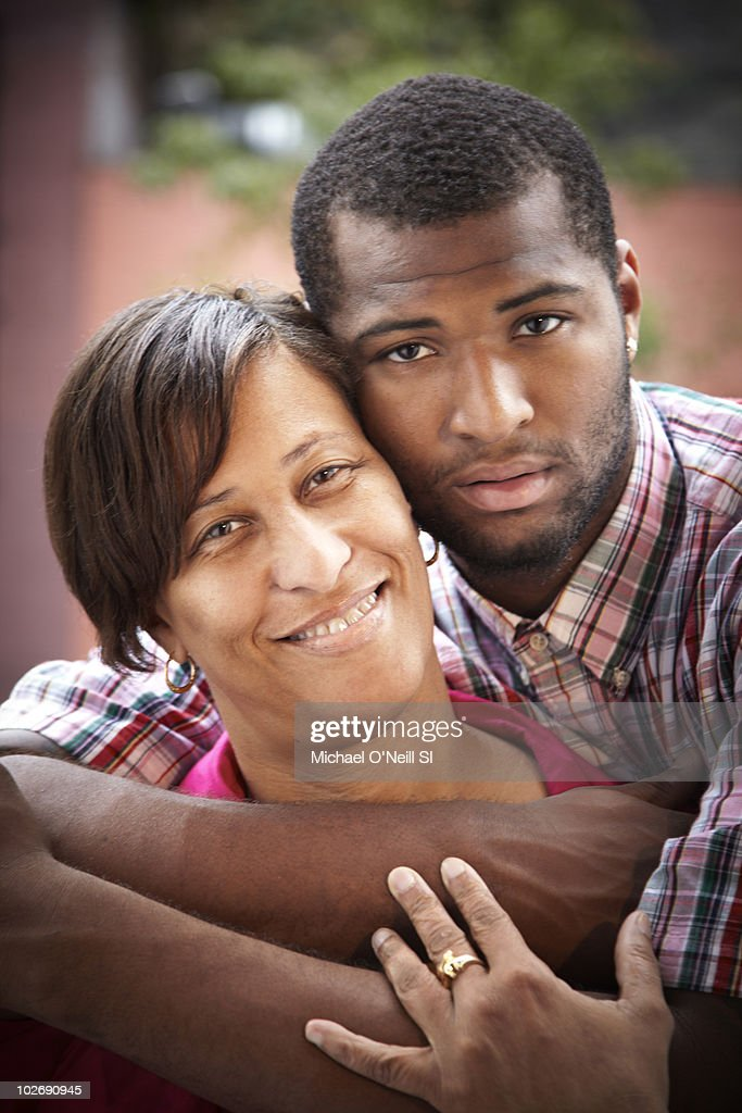 Basketball player and NBA prospect <a gi-track='captionPersonalityLinkClicked' href=/galleries/search?phrase=DeMarcus+Cousins&family=editorial&specificpeople=5792008 ng-click='$event.stopPropagation()'>DeMarcus Cousins</a> and his mother Monique Cousins pose for a portrait session on June 22, 2010, New York, NY for Sports Illustrated Magazine. Published image.