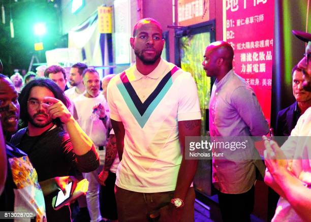Basketball Player Andre Iguodala attends the Raf Simons front row during NYFW Men's July 2017 on July 11 2017 in New York City