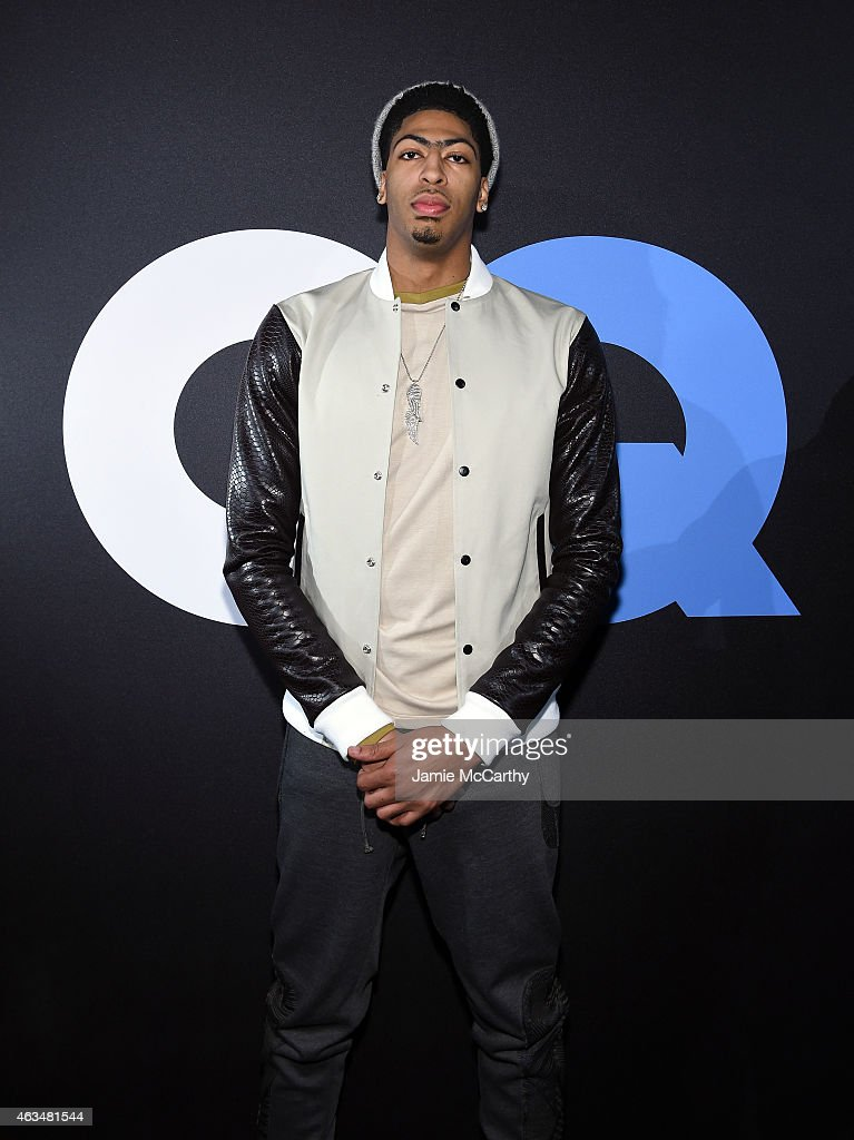 Basketball player <a gi-track='captionPersonalityLinkClicked' href=/galleries/search?phrase=Anthony+Davis+-+Basketball+Player&family=editorial&specificpeople=9539354 ng-click='$event.stopPropagation()'>Anthony Davis</a> attends GQ and LeBron James Celebrate All-Star Style on February 14, 2015 in New York City.