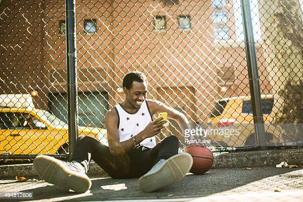 Basketball Player at New York Court