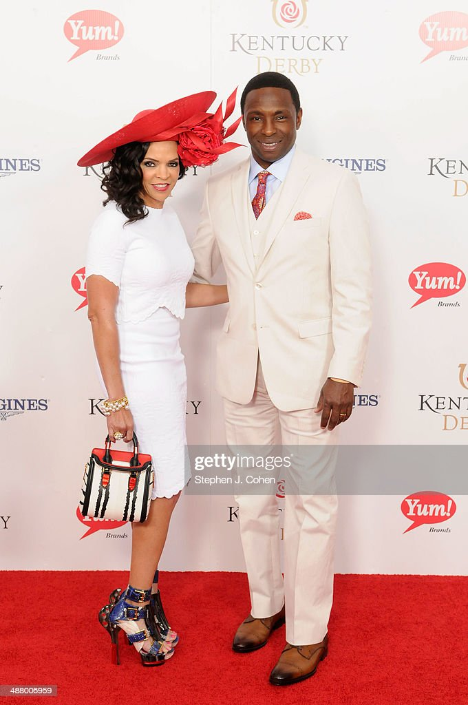 Basketball player Avery Johnson and wife Cassandra Johnson attend 140th Kentucky Derby at Churchill Downs on May 3 2014 in Louisville Kentucky