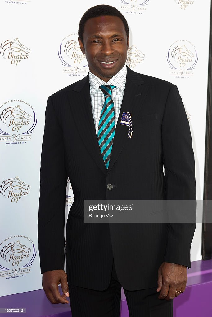 Basketball player Avery Johnson arrives at the 30th Annual Breeders' Cup 'Songs in The Saddle' at Santa Anita Park Racetrack on November 2, 2013 in Arcadia, California.
