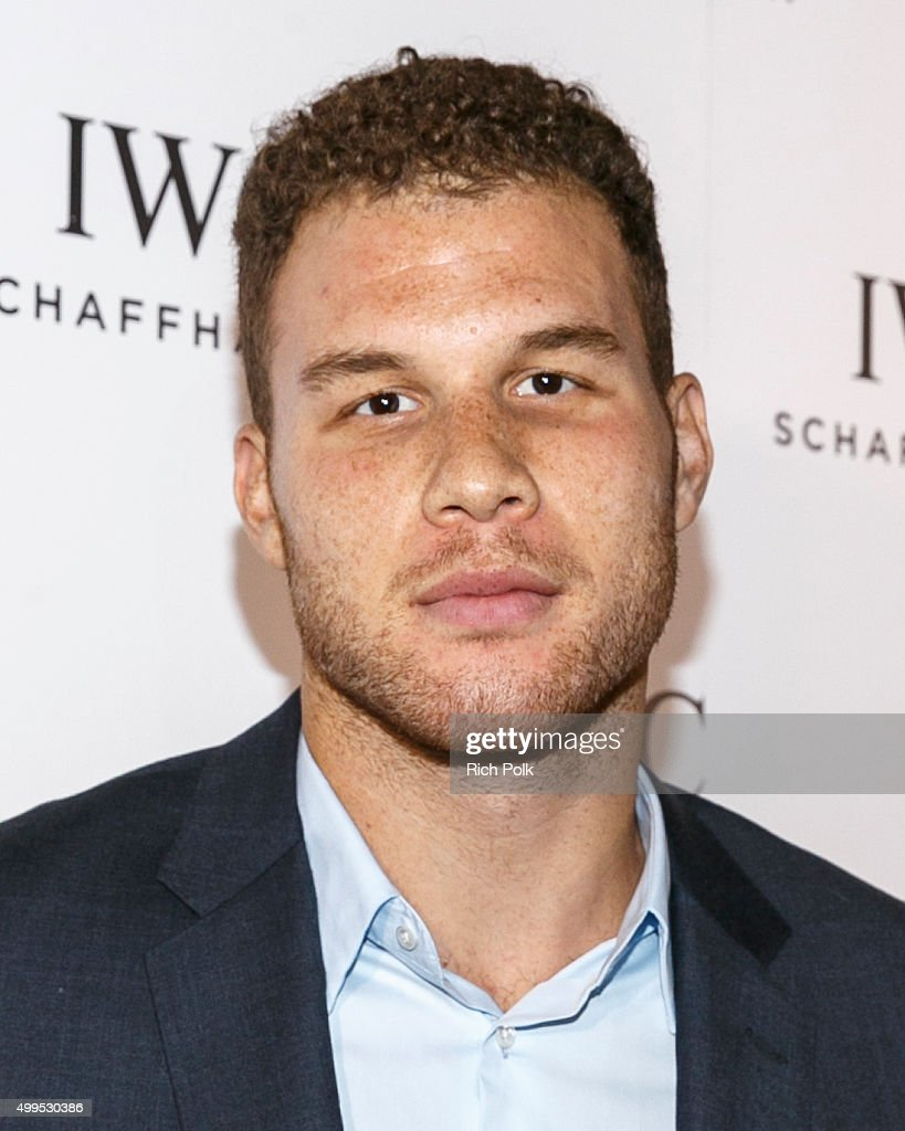 Basketball player <a gi-track='captionPersonalityLinkClicked' href=/galleries/search?phrase=Blake+Griffin+-+Basketball+Player&family=editorial&specificpeople=4216010 ng-click='$event.stopPropagation()'>Blake Griffin</a> arrives to join guests toast the grand opening of IWC Schaffhausens new Rodeo Drive flagship boutique at IWC Shaffhausen on December 1, 2015 in Beverly Hills, California.