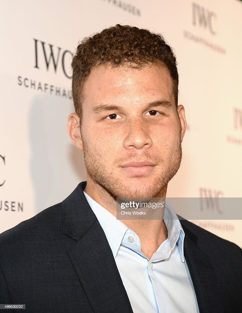 Basketball player <a gi-track='captionPersonalityLinkClicked' href=/galleries/search?phrase=Blake+Griffin&family=editorial&specificpeople=4216010 ng-click='$event.stopPropagation()'>Blake Griffin</a> attends IWC Schaffhausen Rodeo Drive Flagship Boutique Opening on December 1, 2015 in Beverly Hills, California.