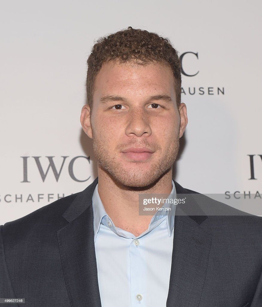 Basketball player <a gi-track='captionPersonalityLinkClicked' href=/galleries/search?phrase=Blake+Griffin+-+Basketball+Player&family=editorial&specificpeople=4216010 ng-click='$event.stopPropagation()'>Blake Griffin</a> attends the IWC Schaffhausen celebration for the Rodeo Drive Grand Opening at IWC Shaffhausen on December 1, 2015 in Beverly Hills, California.