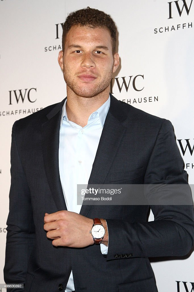 Basketball player <a gi-track='captionPersonalityLinkClicked' href=/galleries/search?phrase=Blake+Griffin+-+Basketball+Player&family=editorial&specificpeople=4216010 ng-click='$event.stopPropagation()'>Blake Griffin</a> attends the IWC Schaffhausen celebrates Rodeo Drive grand opening held at IWC Shaffhausen on December 1, 2015 in Beverly Hills, California.