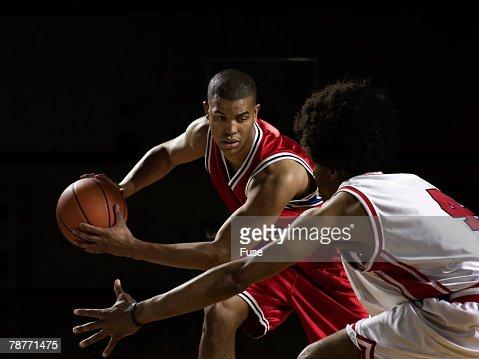 Basketball Player Blocking