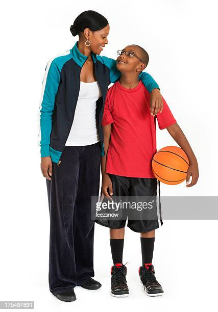 Basketball Player Boy With Mother