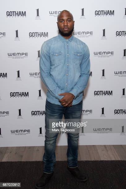 Basketball Player Brandon Hill attends Gotham Magazine's Celebration of it's Late Spring Issue with Noah Syndergaard at 1 Hotel Brooklyn Bridge on...