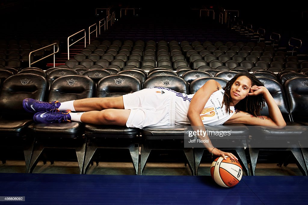 Basketball player <a gi-track='captionPersonalityLinkClicked' href=/galleries/search?phrase=Brittney+Griner&family=editorial&specificpeople=6836945 ng-click='$event.stopPropagation()'>Brittney Griner</a> is photographed for People Magazine on April 27, 2014 in Phoenix, Arizona. PUBLISHED IMAGE