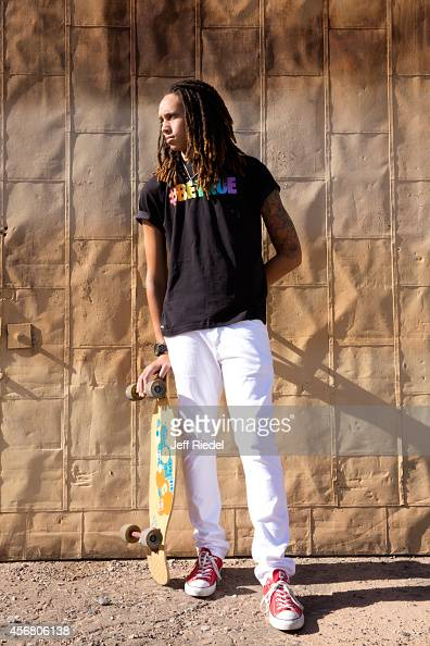 Basketball player Brittney Griner is photographed for People Magazine on April 27 2014 in Phoenix Arizona