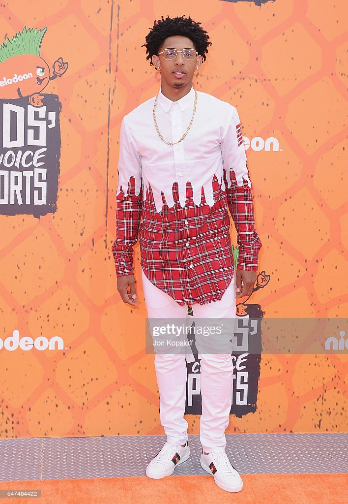 NBA basketball player Cameron Payne arrives at Nickelodeon Kids' Choice Sports Awards 2016 at UCLA's Pauley Pavilion on July 14, 2016 in Westwood, California.