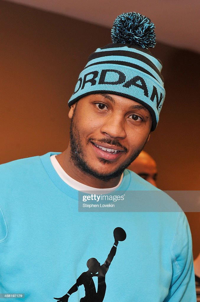 NBA basketball player <a gi-track='captionPersonalityLinkClicked' href=/galleries/search?phrase=Carmelo+Anthony&family=editorial&specificpeople=201494 ng-click='$event.stopPropagation()'>Carmelo Anthony</a> attends the 'Big' 25th Anniversary Edition Blu-ray Release special screening benefiting the <a gi-track='captionPersonalityLinkClicked' href=/galleries/search?phrase=Carmelo+Anthony&family=editorial&specificpeople=201494 ng-click='$event.stopPropagation()'>Carmelo Anthony</a> Foundation at AMC Empire on December 20, 2013 in New York City.