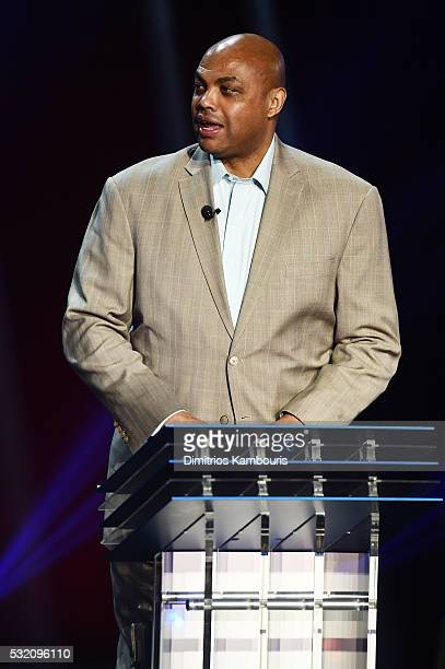 Basketball player Charles Barkley appears on stage during the Turner Upfront 2016 show at The Theater at Madison Square Garden on May 18 2016 in New...