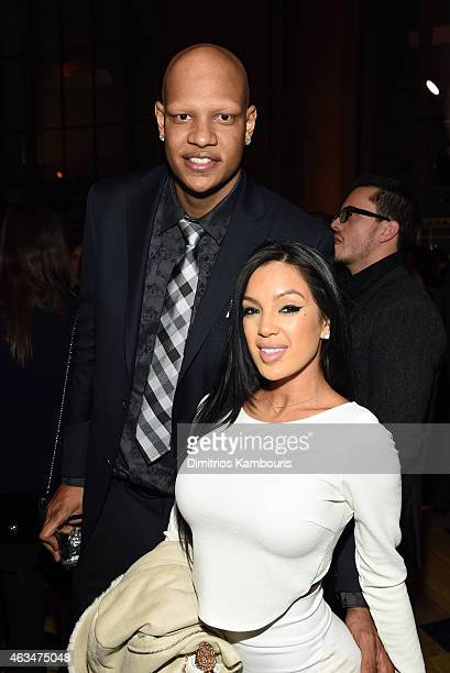 Basketball player Charlie Villanueva and Michelle Game attend GQ and LeBron James Celebrate AllStar Style on February 14 2015 in New York City