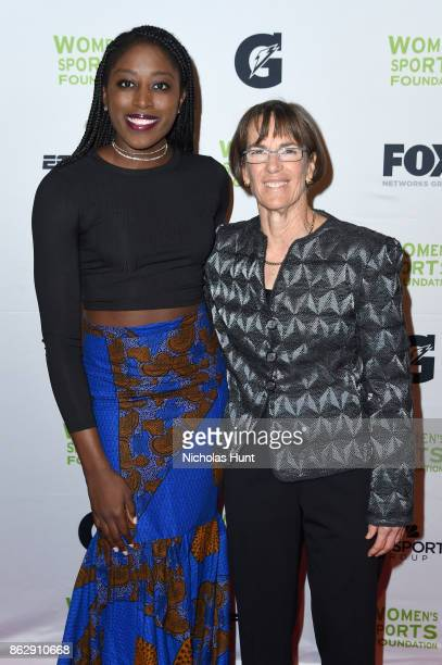 Basketball player Chiney Ogwumike and basketball coach Tara VanDerveer attend The Women's Sports Foundation's 38th Annual Salute To Women in Sports...