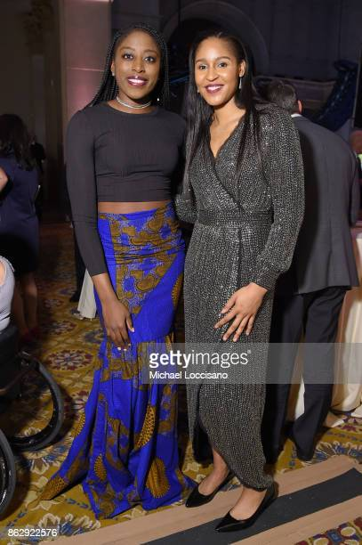 Basketball player Chiney Ogwumike and Maya Moore attend The Women's Sports Foundation's 38th Annual Salute To Women in Sports Awards Gala on October...
