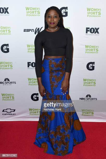 Basketball player Chiney Ogwumike attends The Women's Sports Foundation's 38th Annual Salute To Women in Sports Awards Gala on October 18 2017 in New...