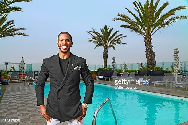 Basketball player Chris Paul is photographed for Sports Illustrated on March 5 2013 at the London Hotel in West Hollywood California CREDIT MUST READ...