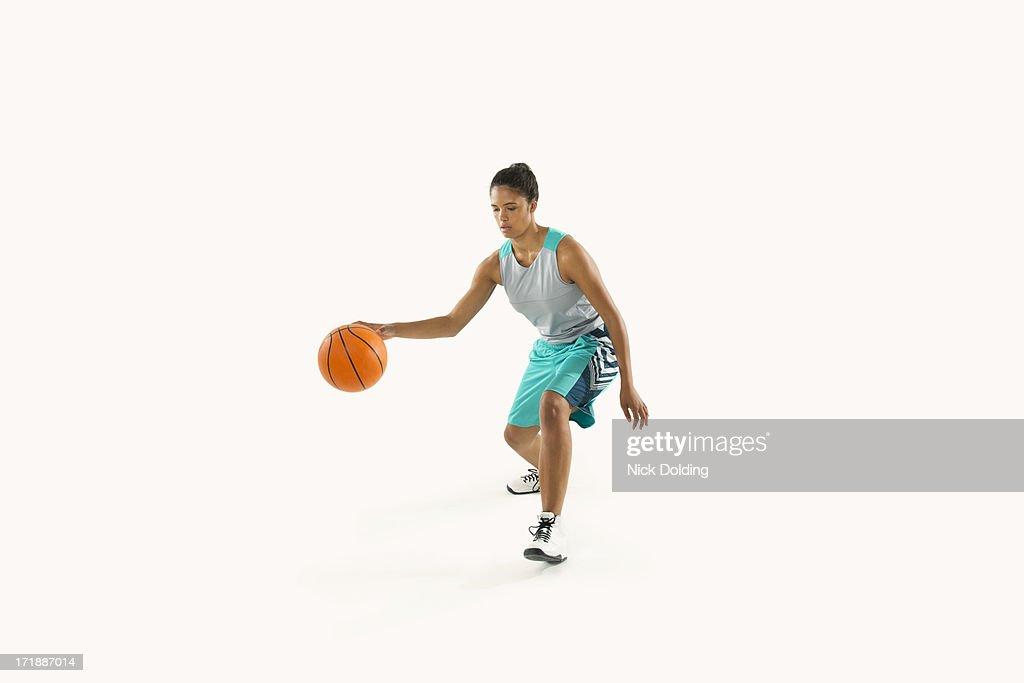 Basketball Player Dribbling 09